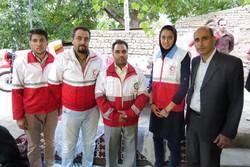 بانوی مدال آور المپیکی ایران به عضویت داوطلبان هلال احمر در آمد