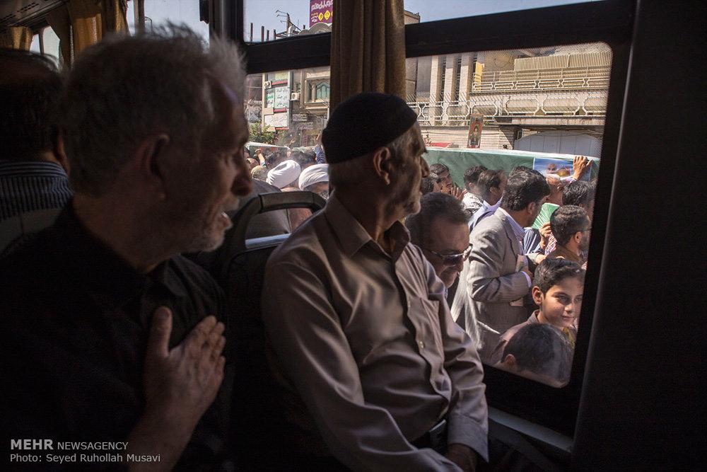تشییع پیکر مطهر 12 شهید مدافع حرم حضرت زینب سلام الله علیها در قم