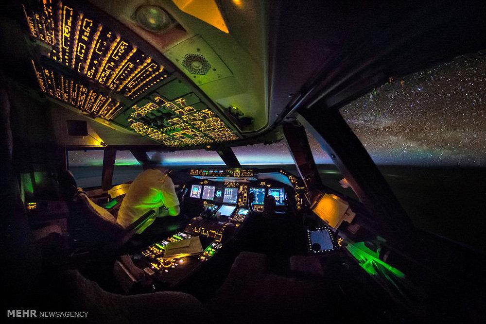 تصاویر گرفته شده از کابین خلبان