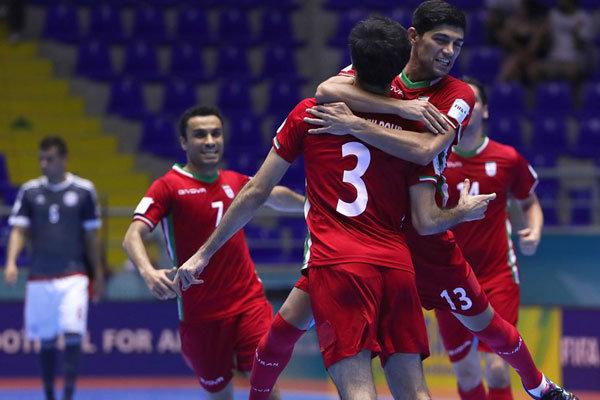 صعود مذهل لفريق ايران  للنصف النهائي في بطولة العالم لكرة الصالات