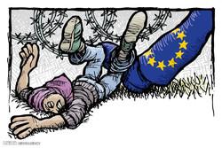 برترین کاریکاتورها؛ ممانعت اروپا از ورود مهاجرین