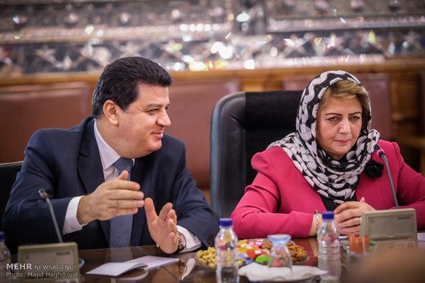 لاريجاني يستقبل رئيسة مجلس الشعب السوري