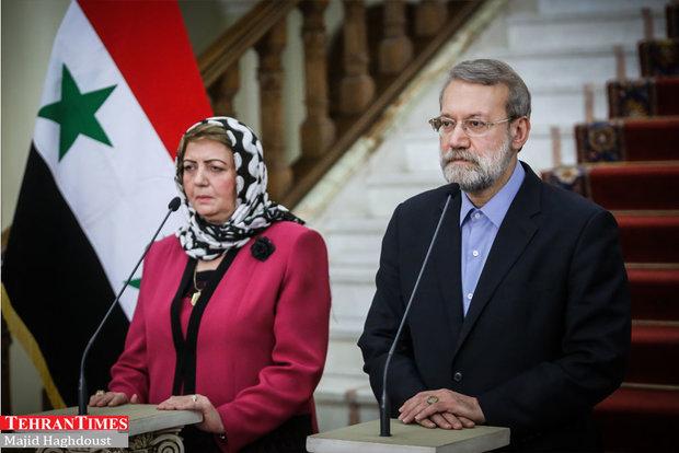 Larijani meets Syrian counterpart