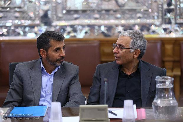 دیدار مدیران صنعت پتروشیمی با علی لاریجانی رئیس مجلس شورای اسلامی