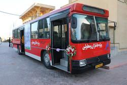 اتوبوس ویژه تردد معلولین و جانبازان در سنندج راه اندازی شد