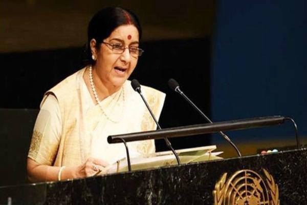 ہندوستان میں دہشت گردی پاکستان سے آتی ہے، سشما سوراج