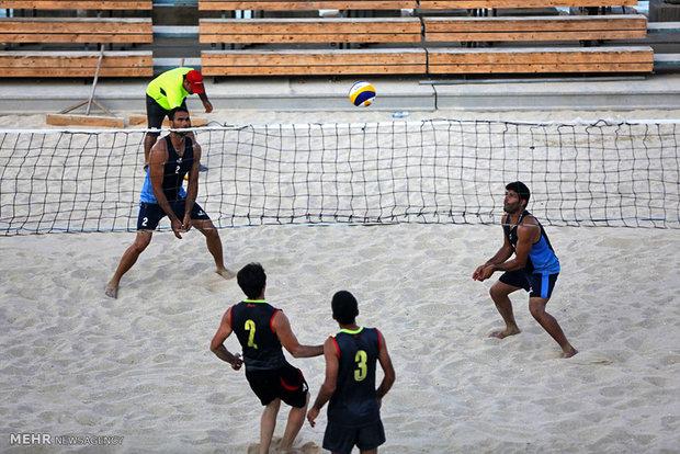 فینال هفتمین دوره مسابقات والیبال ساحلی کارکنان سازمان بنادر و دریانوردی در جزیره کیش