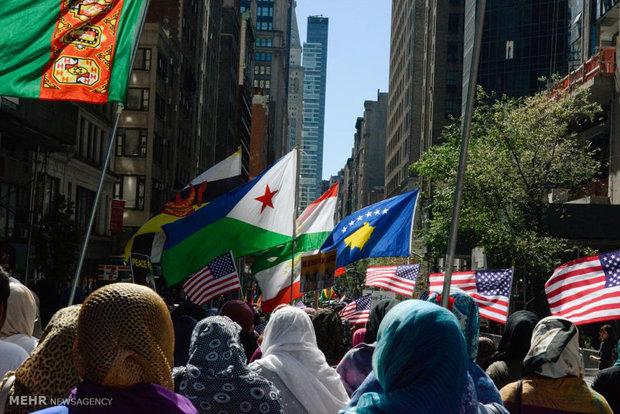 رژه سالانه مسلمانان در نیویورک