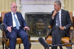 العبادي: طالبنا اوباما بزيادة عدد المستشارين الاميركيين استعدادا لمعركة تحرير الموصل