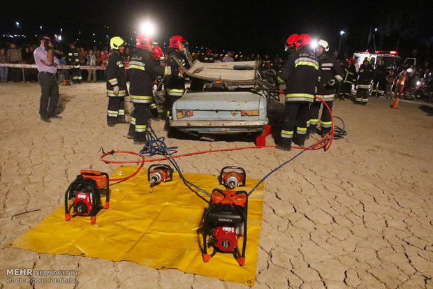 Safety and firefighting exercises in Isfahan