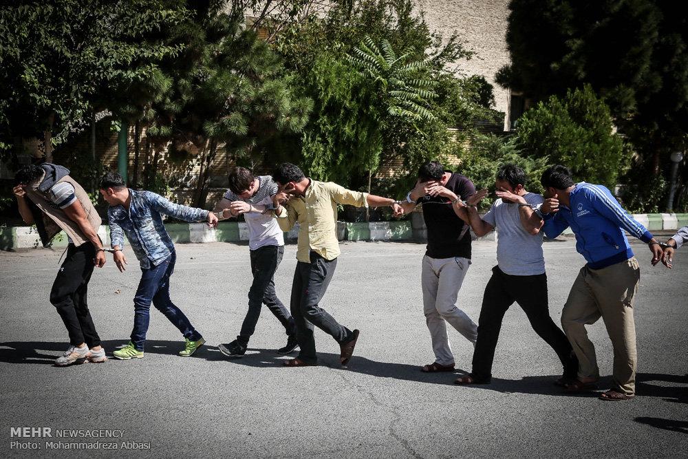 دستگیری ۱۰۰ سارق سابقه دار در تهران