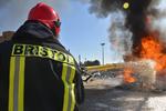 مهار آتش سوزی در سوله ۵۰۰ متری انبار چوب