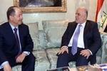 دیدار غیر علنی بارزانی و العبادی/ نفت و موصل محور مذاکرات