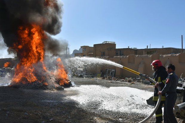 Safety and firefighting exercises in Shahreza
