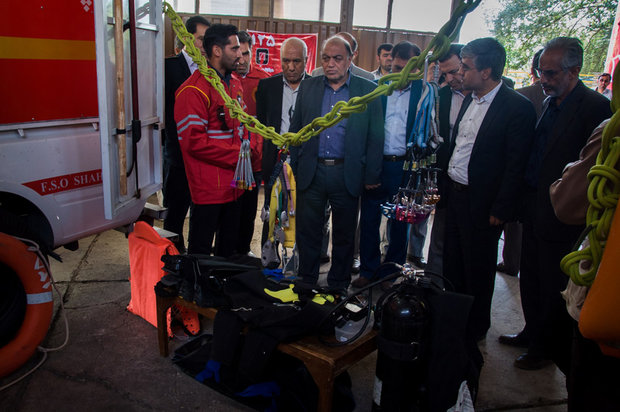 Safety and firefighting exercises in Shahroud
