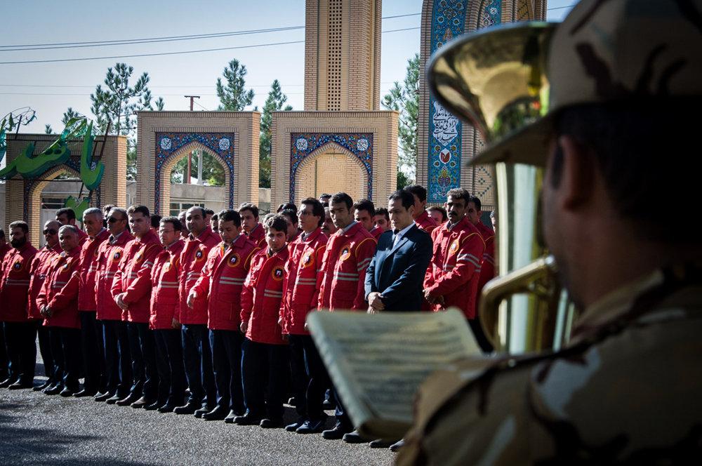 مراسم و مانور روز جهانی آتش نشانی در شهرستان شاهرود