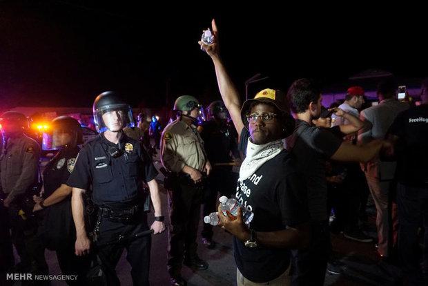اعتراض به اقدامات نژادپرستانه پلیس در کالیفرنیا