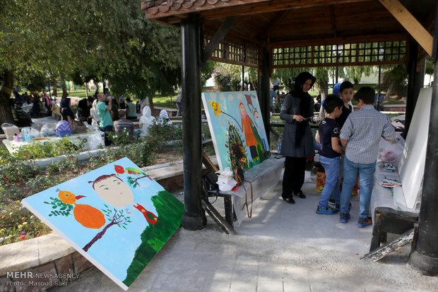 آیین افتتاح نمایشگاه «کودک، هنر و صلح»