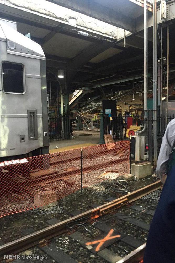از ریل خارج شدن قطار در نیوجرسی