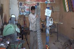 دستگاه فنس بافت توسط مبتکر آبدانانی ساخته شد