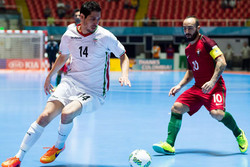 دیدار تیم ملی فوتسال ایران و پرتغال