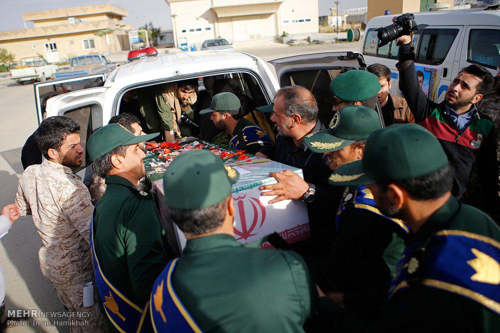 مراسم استقبال از پیکر شهید مدافع حرم محمدرضا زارع الوانی