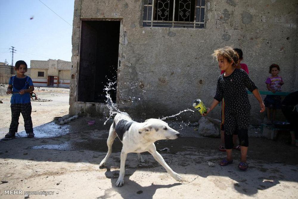 بازی های کودکانه در منطقه جنگی
