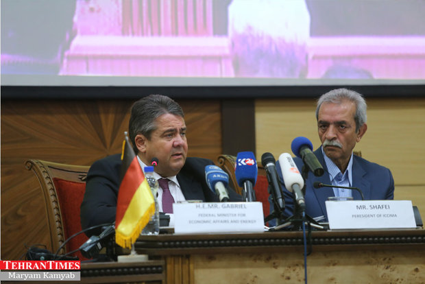 Sigmar Gabriel attending Iran-Germany business commission in Tehran