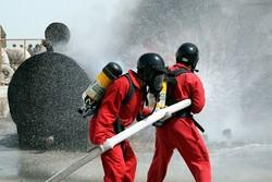 مانور اطفای حریق ساختمان های بلندمرتبه در آمل برگزار شد
