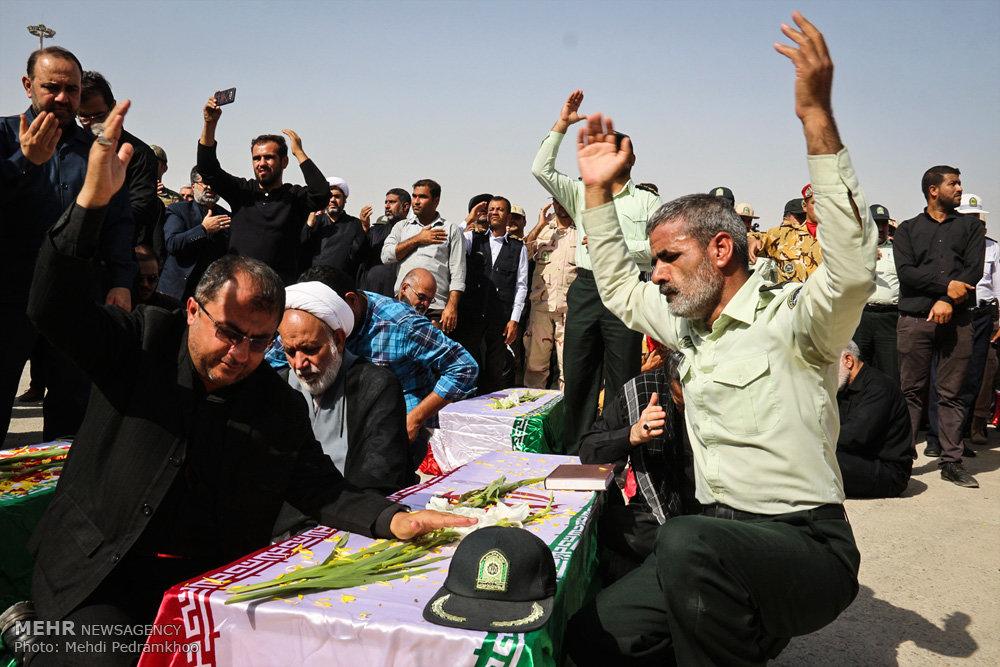 مراسم استقبال از ۷۸ شهید دوران دفاع مقدس در مرز شلمچه