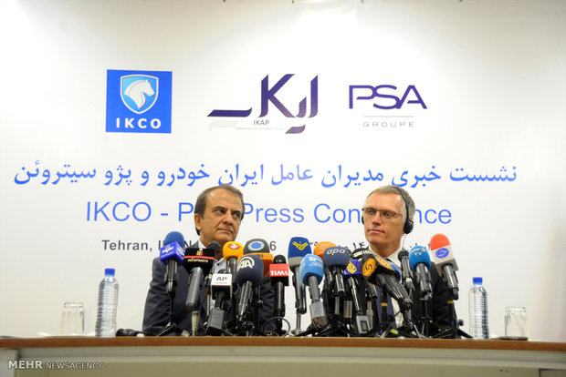 IKCO, PSA senior officials held presser