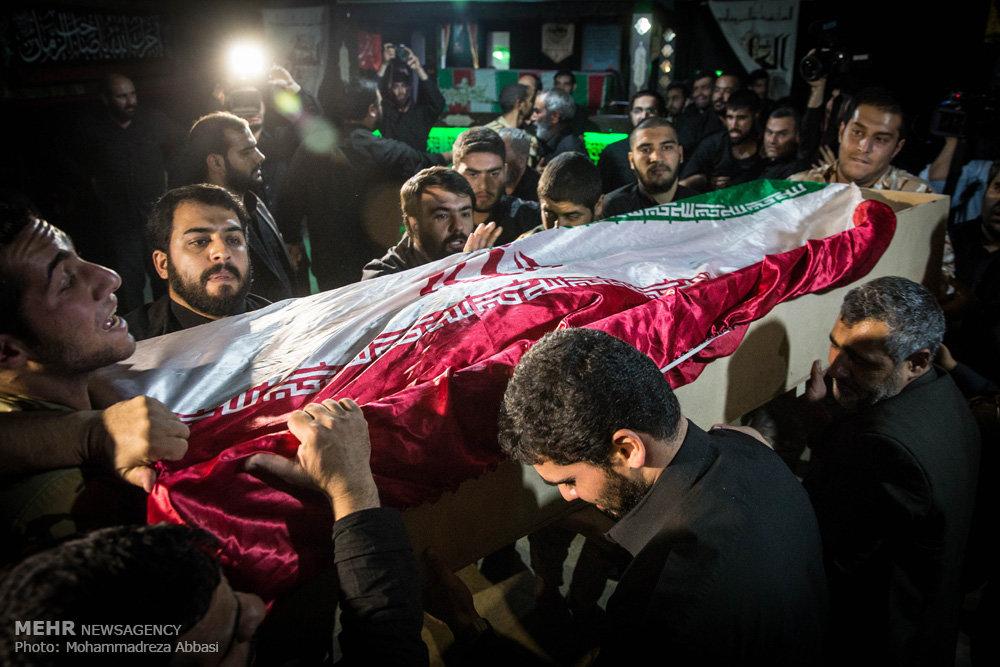مراسم وداع با شهید مدافع حرم مهدی حسینی