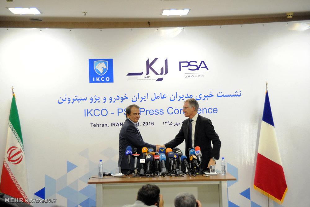 نشست خبری مدیران ارشد ایران خودرو و پژو سیتروئن