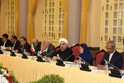 روحاني: يجب الوقوف معاً لمقاومة المعايير  الغربية المزودجة