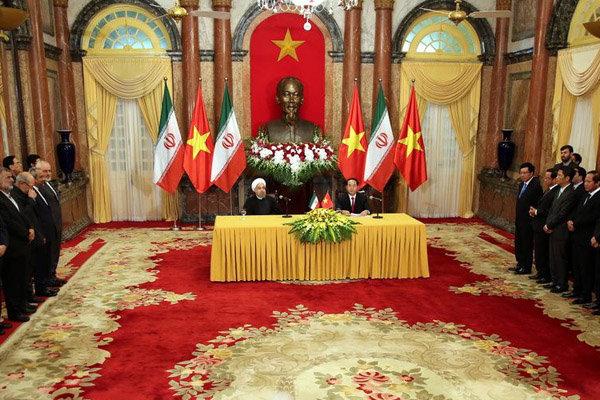 ايران وفيتنام تتفقان على زيادة  حجم التبادل التجاري الى خمسة اضعاف