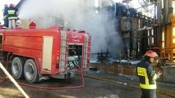 آتش سوزی پالایشگاه نفت شاهرود