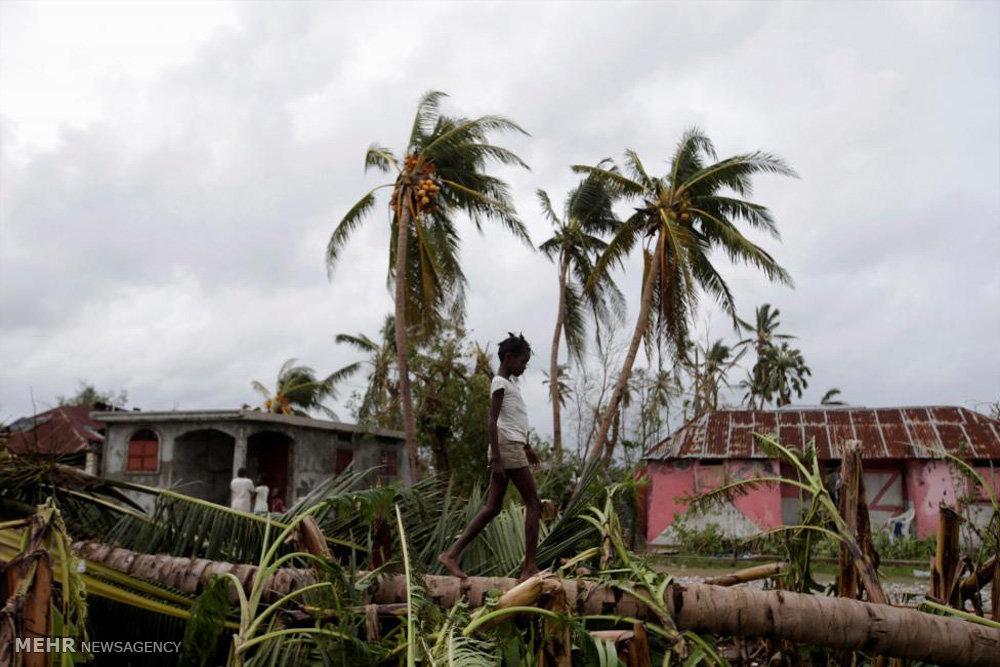 خسارات طوفان متیو در هائیتی