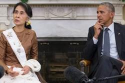 اوباما و آنگ سان سوچی