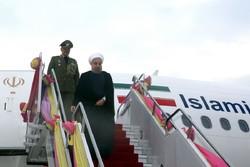 روحاني يصل الى العاصمة الكازاخستانية أستانا
