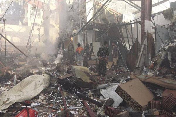 تحالف العدوان السعودي يعترف بمسؤوليته عن مجزرة مجلس العزاء في صنعاء