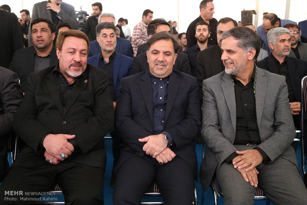 افتتاح دو طرح از پروژه قطار حومه تهران و ورامین