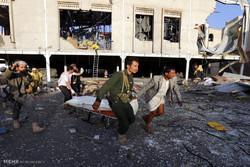 مشاهد من الجريمة المروعة التي ارتكبها النظام السعودي في قصف صنعاء