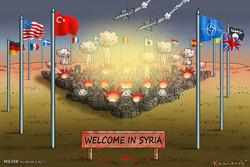 کاریکاتور؛ جنگ بی پایان در سوریه