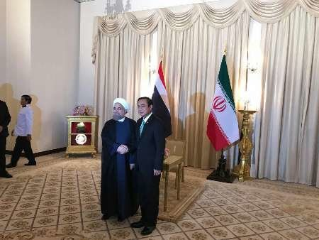 Thai PM welcomes Pres. Rouhani in Bangkok