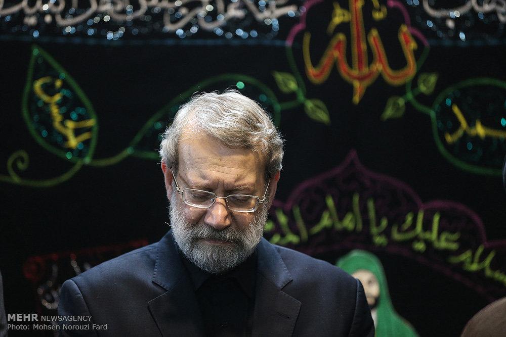 حضور رئیس مجلس شورای اسلامی در مراسم عزاداری ایام محرم