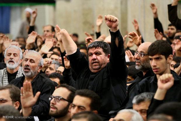داقامة الليلة الثانية من مراسم العزاء الحسيني بحضور قائد الثورة الاسلامية