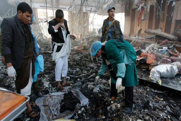 حملات گسترده رژیم سعودی به «جبل نقم» در صنعاء,
