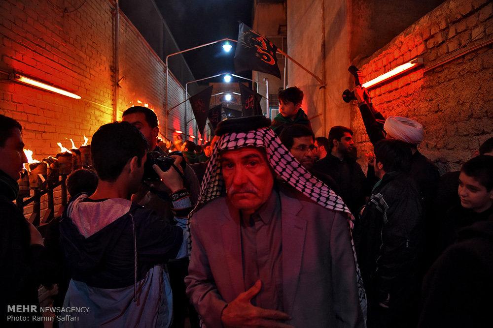 مراسم عزاداری و مشعل گردانی نجفی های مقیم مشهد
