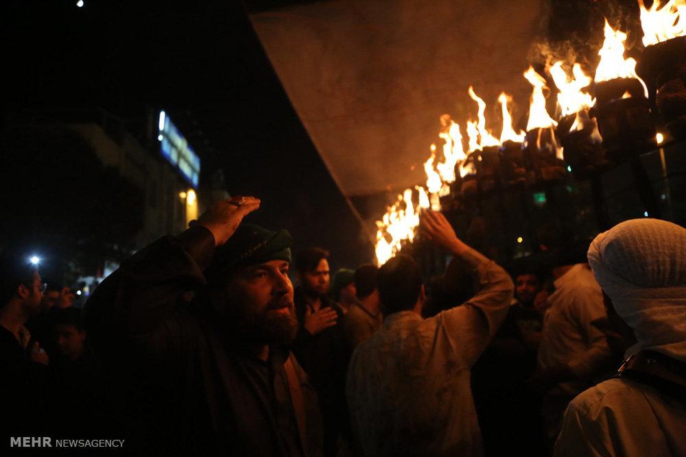 مراسم عزاداری و مشعل گردانی نجفی های مقیم قم