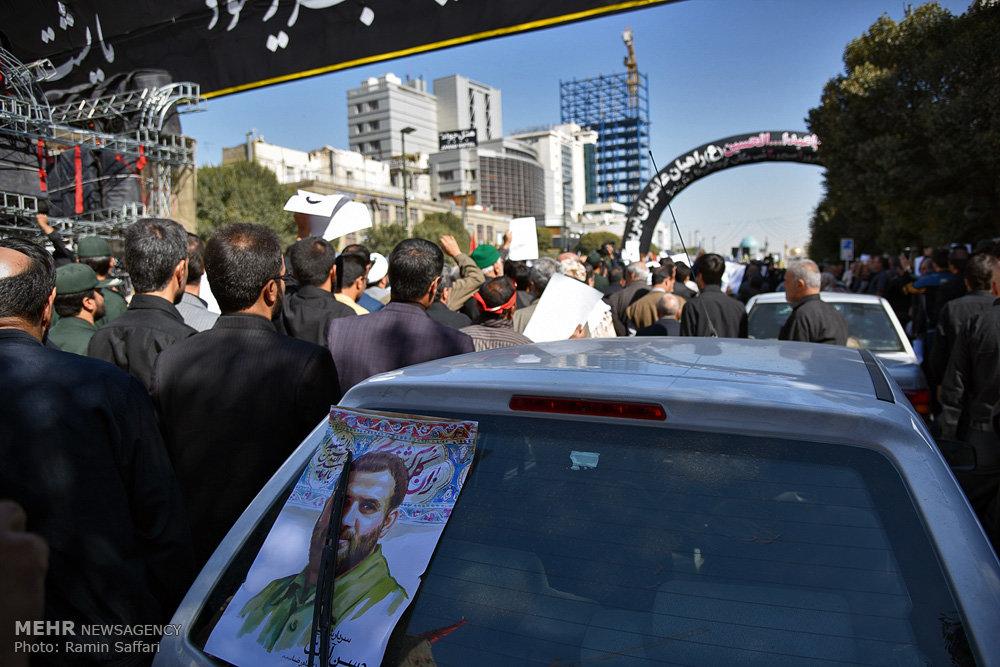 تشییع پیکر سردار شهید حسن آزادی و سه شهید دفاع مقدس